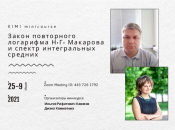 EIMI миникурс: «Закон повторного логарифма Н.Г. Макарова и спектр интегральных средних»