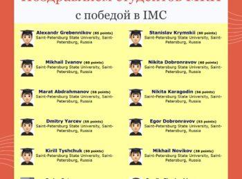 Объявлены результаты IMC 2021